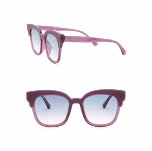 Jimmy Choo Mayela Purple Glitter Sunglasses